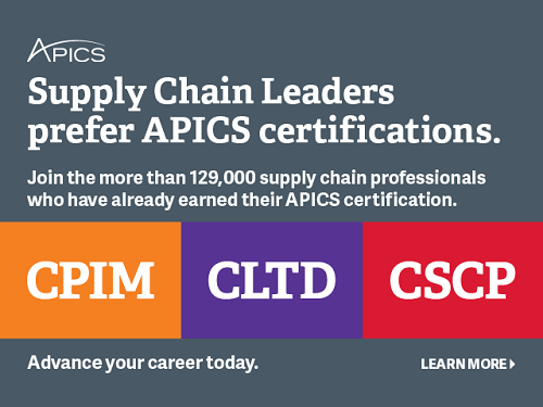 Supply Chain Certification-CSCP, CPIM, CLTD